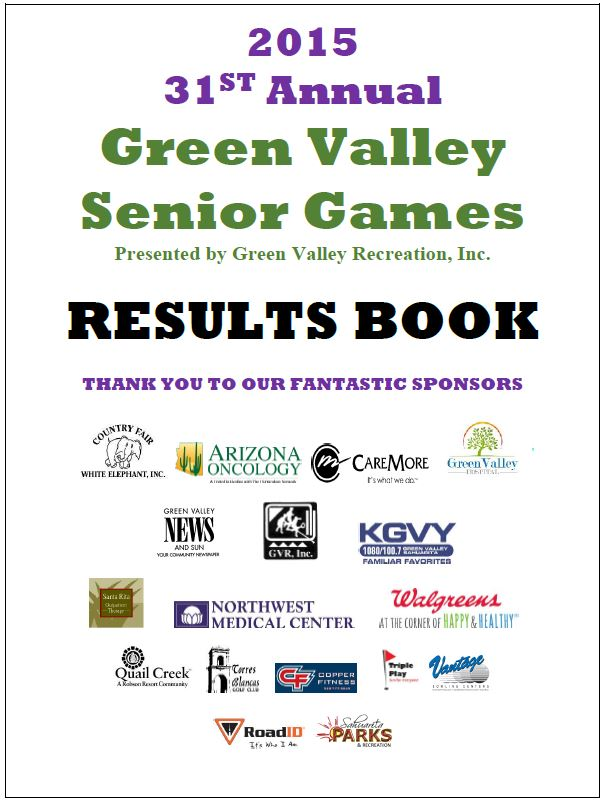 RESULTS! 2015 Senior Games